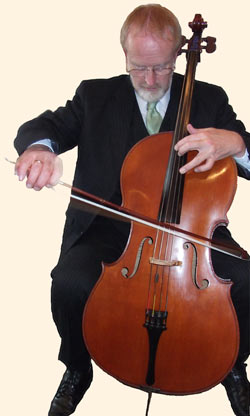 Martin Angell plays his cello